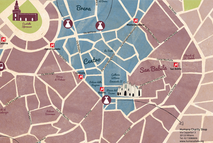 Milan Vintage Map
